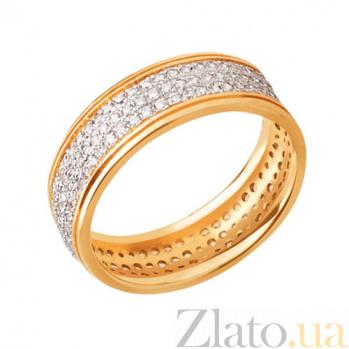 Обручальное кольцо из желтого золота Анжелика с фианитами VLT--ТТ165-1/жел
