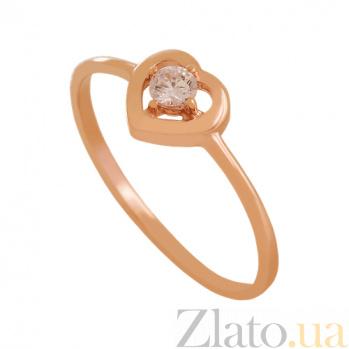 Золотое кольцо с фианитом Романтика VLN--212-1790