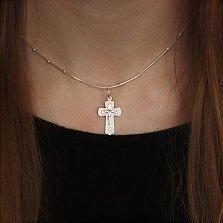 Серебряный крест Благостная защита