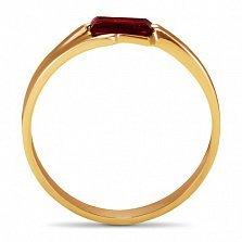 Золотое кольцо Шенон с гранатом