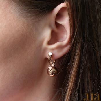 Золотые серьги Модный приоритет TNG--410060