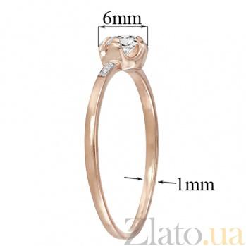 Золотое помолвочное кольцо в красном цвете Стелла 000023223