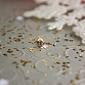 Золотая сережка-пирсинг в нос с фианитом Имидж TNG--560034