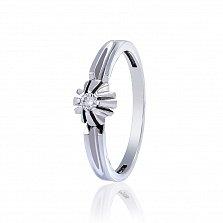 Кольцо из белого золота с бриллиантом Джуна