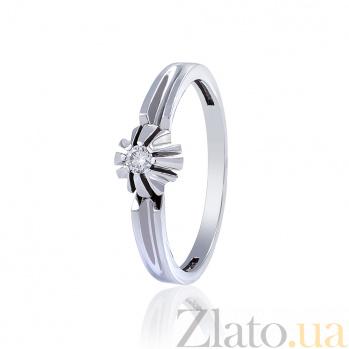 Кольцо из белого золота с бриллиантом Джуна EDM-КД7520/1