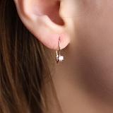 Золотые серьги Блэссинг с розовым фианитом