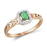 Кольцо из золота с изумрудом и бриллиантами Джудит