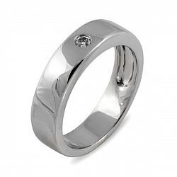 Обручальное кольцо Вечность из белого золота с бриллиантом