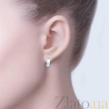 Серебряные серьги Зазеркалье AQA--Щ-703727
