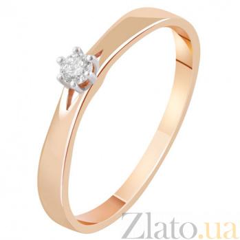 Золотое кольцо с бриллиантом Росита KBL--К1994/крас/брил