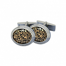 Золотые запонки с бриллиантами Эдвин