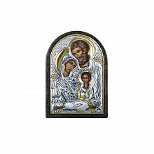 Серебряная икона с позолотой Святая семья