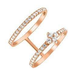 Золотое кольцо с фианитами 000054616