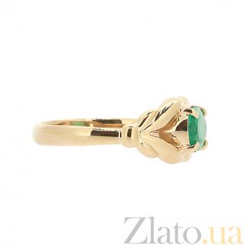 Золотое кольцо в красном цвете с изумрудом Деметра ZMX--RE-6599_K