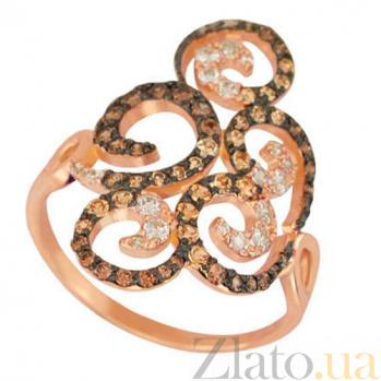Кольцо из красного золота с цирконием Актриса VLT--ТТТ1174-2