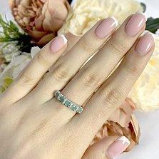 Серебряное кольцо Иллирика с изумрудами и фианитами