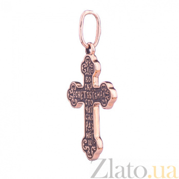 Золотой крест с чернением Одухотворение ONX--п01853