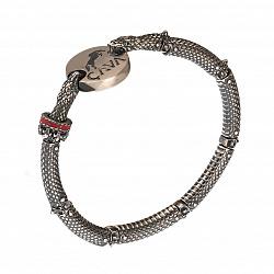 Серебряный браслет с чернением Змеиная сила