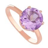 Золотое кольцо с аметистом Корнелиа
