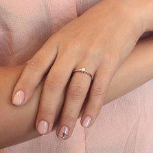 Кольцо из белого золота Милая с бриллиантом 0,1ct