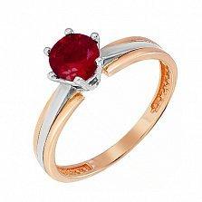 Золотое кольцо Делия с гранатом