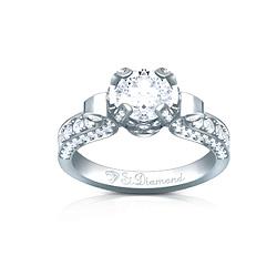 Золотое кольцо с аквамарином и бриллиантами Душистый мед