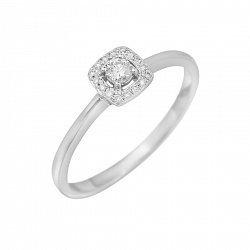 Кольцо из белого золота Мэган с бриллиантами