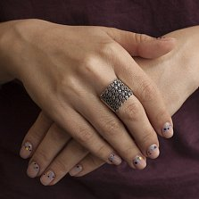 Серебряное кольцо Люсьена с розовыми фианитами