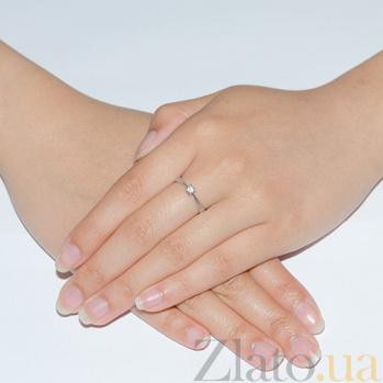 Кольцо из белого золота с бриллиантом Ангелина R 0675/бел