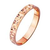 Золотое обручальное кольцо с алмазной гранью Венец любви