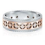 Обручальное кольцо Калейдоскоп Любви: Карусель мечты из белого и роового золота с бриллиантами