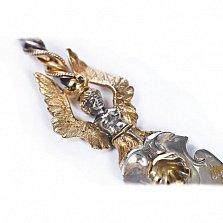 Серебряная столовая вилка Готика с позолотой