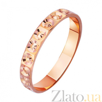 Золотое обручальное кольцо с алмазной гранью Венец любви TRF--4111258
