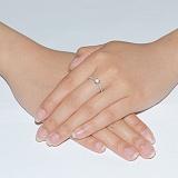 Кольцо из белого золота с бриллиантами Безупречность