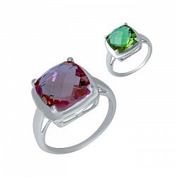 Серебряное кольцо Мистика с султанитом