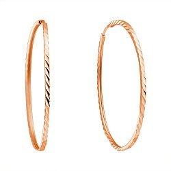 Серьги-кольца из красного золота, d 40мм 000013631