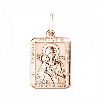 Золотая ладанка Богородица Владимирская 000142330