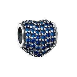 Серебряный шарм с синими фианитами 000116456