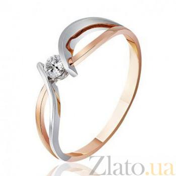 Золотое кольцо с одним бриллиантом Николь EDM--КД7510