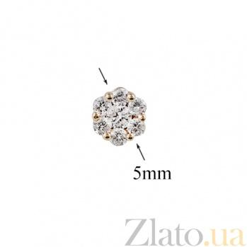 Золотые серьги-пуссеты с бриллиантами София 000026713