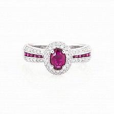 Золотое кольцо Маританна с рубинами и бриллиантами