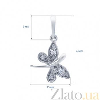 Серебряный кулон Бабочка  AQA--3348