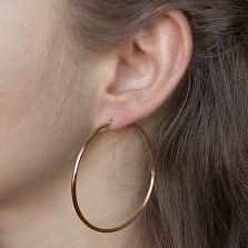 Золотые сережки-кольца Элеонора, диам. 50мм