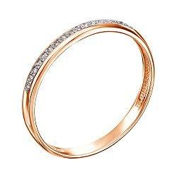 Кольцо в красном золоте с бриллиантами 000104217