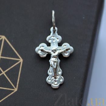 Крестик из белого золота Спаситель EDM--КР0103Б