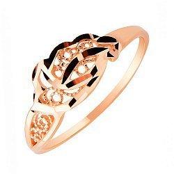 Золотое кольцо Изящность граней в красном цвете