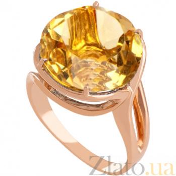 Золотое кольцо Румия с цитрином 000024490