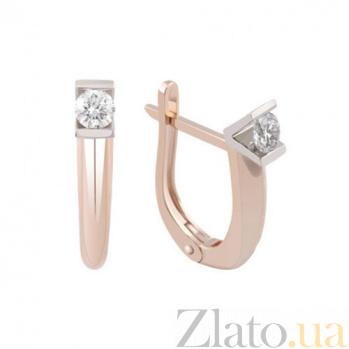 Золотые серьги с бриллиантами Миледи KBL--С2428/крас/брил