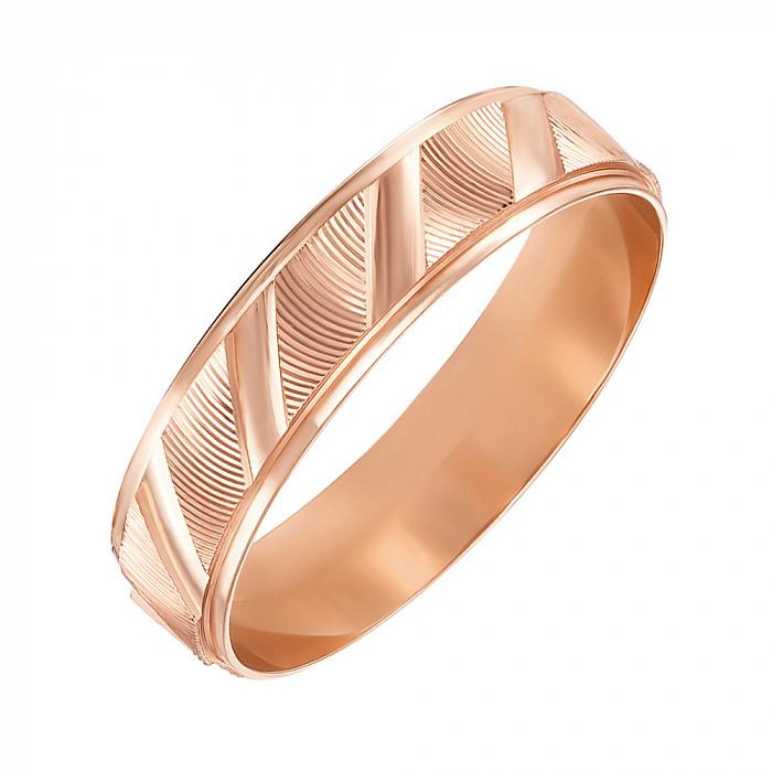 Обручальное кольцо из красного золота 000119340 000119340