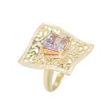 Золотое кольцо с аметистом и бриллиантами Принцесса Жасмин